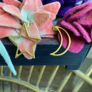 Madewell Heart & Moon Earrings